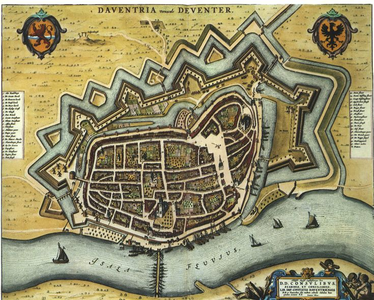 Dutch City Maps from the Blaeu Atlas 1649-1652 - Deventer