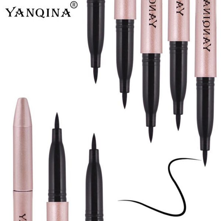 YANQINA 1 Pcs New Hot selling Waterproof Lasting Black Eyeliner Pen Beauty Eye Liner Pencil Big Eye Black Eyes Makeup Tools