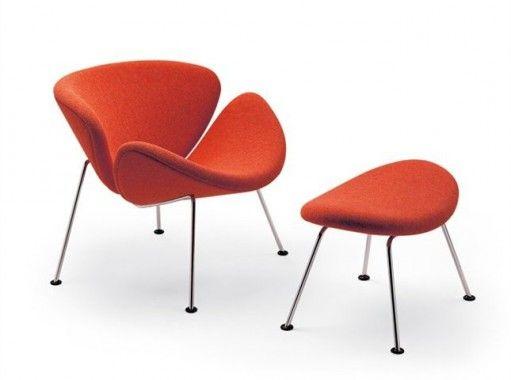Artifort Orange Slice fauteuil oranje stof