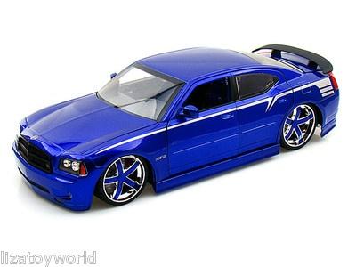 Blue Dodge Charger >> 2006 Dodge Charger SRT8 JADA LOPRO 1:18 Scale w/ 2 Sets Of Custom Wheels BLUE | Haha | Pinterest ...