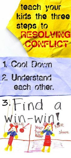 Teaching our children to resolve conflicts (with Bible references), would make a great FHE lesson