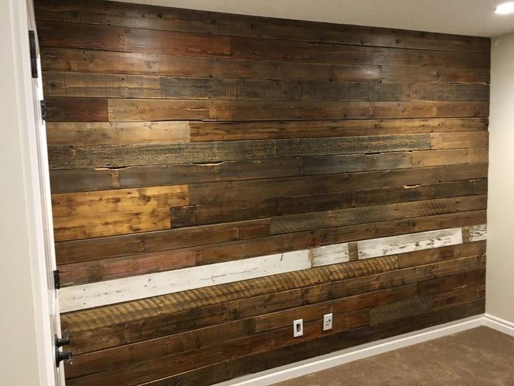 HIS & HER reclaimed wood feature wall