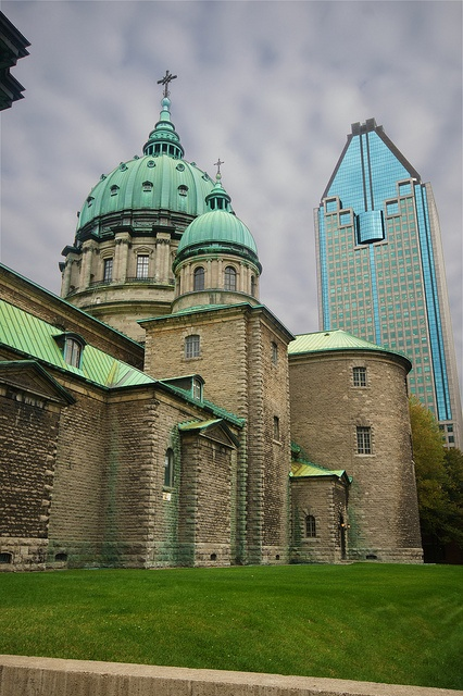 Church and office tower - Montreal, Canada