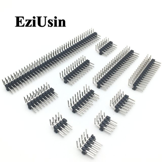 40Pin 2.54mm Male PCB Single Row Straight Header Strip Connector for Arduino AD