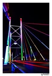 Nelson Mandela Bridge at night...
