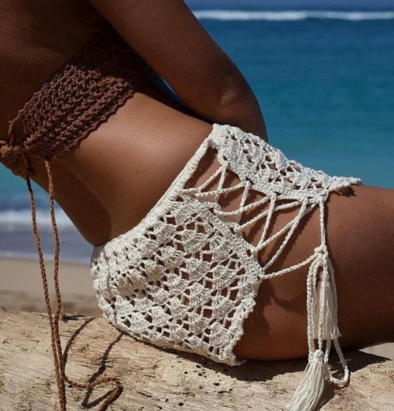 Shorts de encaje de ganchillo por byrosali en Etsy