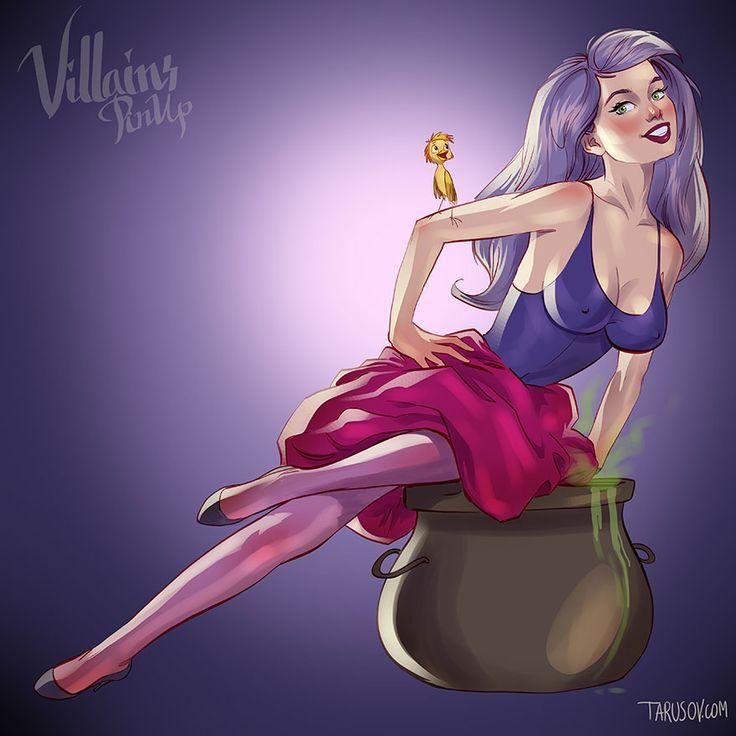 Les méchantes de Disney en pinup par Andrew Tarusov  Dessein de dessin