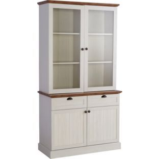 Buy Living Addington Display Cabinet Antique White And
