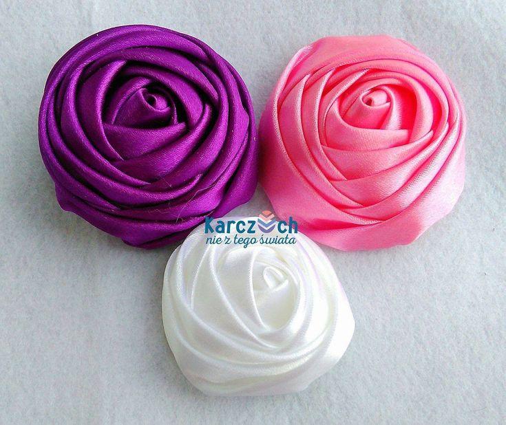 Kanzashi #22 - Ribbon rose no 1 …