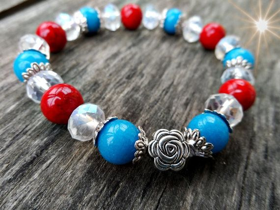 natural blue jade red river stone  crystal  by RasikaWorkshop