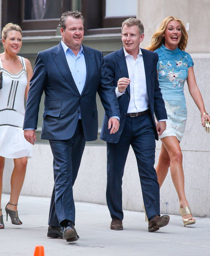 Pin for Later: Can You Spot All the Famous Wedding Guests?  Eric Stonestreet, Cat Deeley, and her husband, Patrick Kielty, arrived at Jesse Tyler Ferguson's NYC wedding in July 2013.
