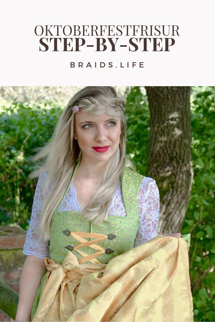 Einfache Frisuren Anleitung: Oktoberfest-Frisur für offenes Haar – Frisuren – LIEBLINGE • braids.life