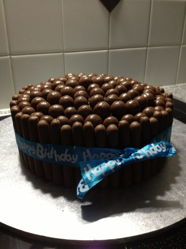 Chocolate finger and Malteser cake