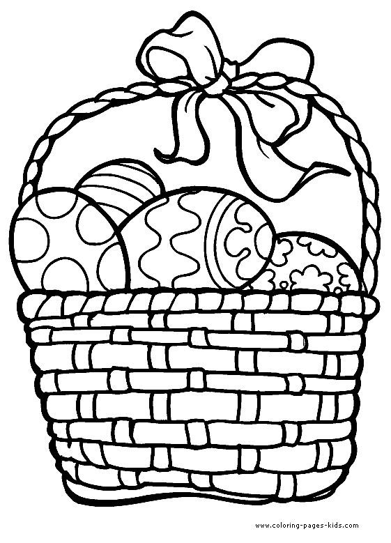 Easter Egg Basket Coloring Pages 2 Jpg 561 779 Easter