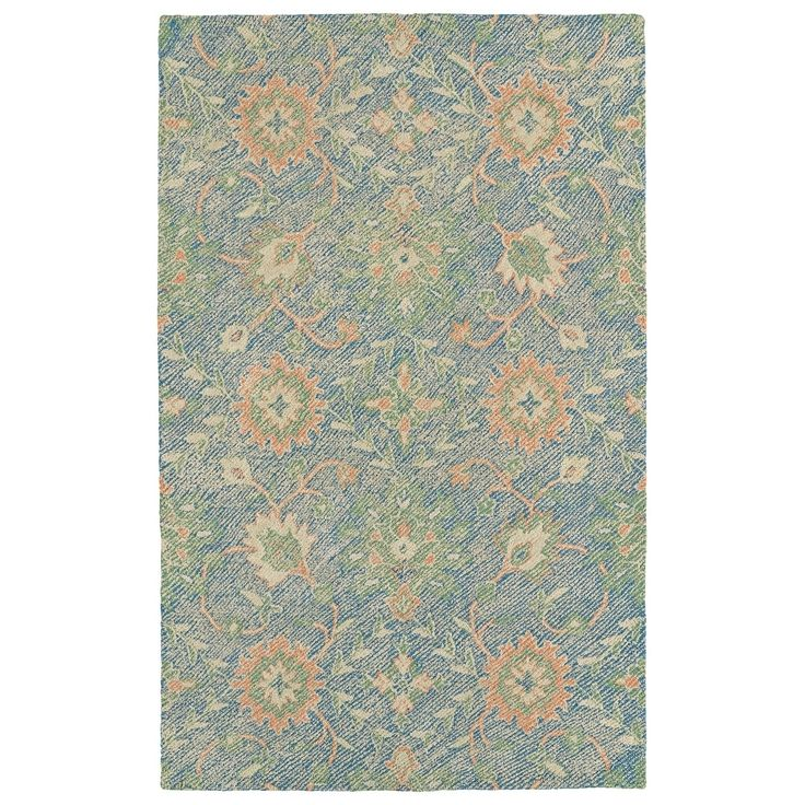 Bombay Home Robinson Blue Hand-tufted Indoor/Outdoor Oriental Area Rug (5' x 7'6), Size 5' x 7'6