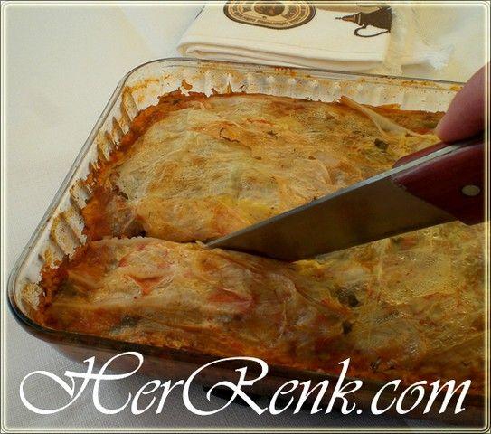 Tembel Hanım Sarması-Fırında lahana pastası,tek kişilik,dilim,kolay,pratik lahana nasıl sarılır,resimli tarifi,değişik sarma tarifleri,basit lahana dolması nasıl yapılır,easy stuffed cabbage rolls,