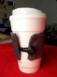 DIY Fathers Day Fabric Coffee Sleeve
