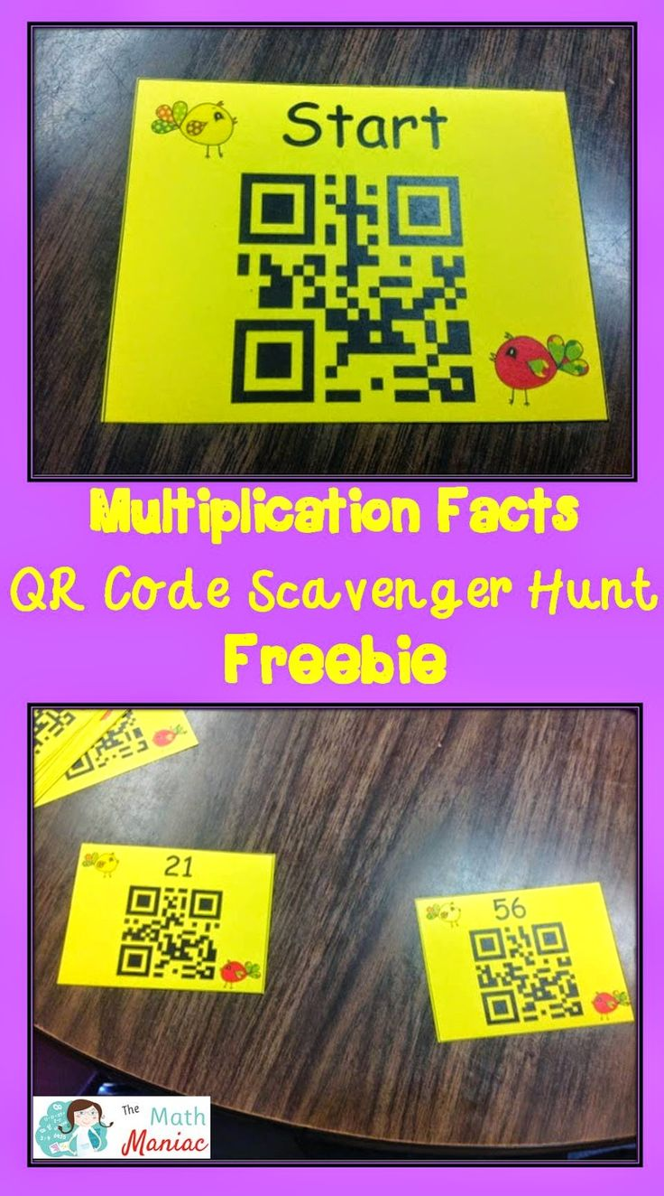 Have you tried QR code scavenger hunts?  Read more about how they can help your students accomplish routine practice in a fun way and grab a free QR code scavenger hunt for working on multiplication facts.