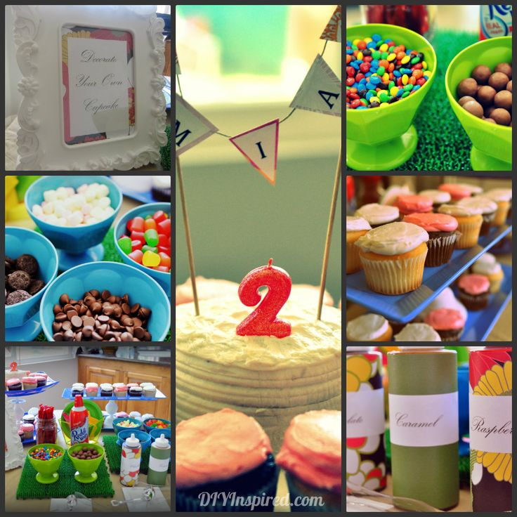 Cupcake decorating station ideas for a kids party :)