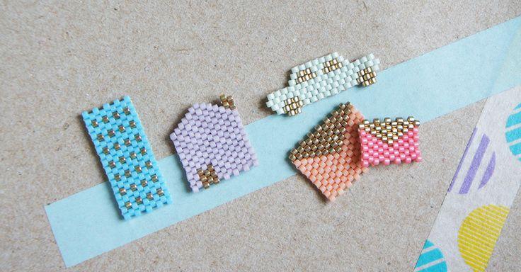 Des diagrammes gratuits de porte clés en perles miyuki