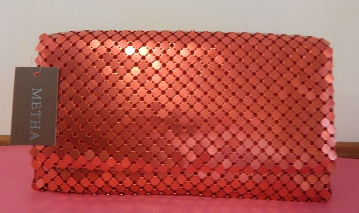 Metallic Mesh Clutch - 6 Colour Available - BNWT - Silver, Gold, Red, Black