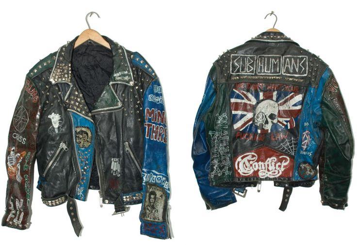 Best punk leather jacket images on pinterest