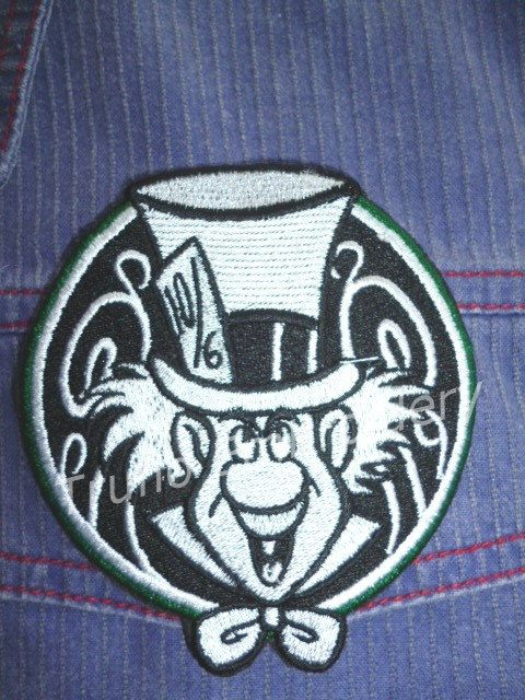 Mad Hattter iron-on patch/badge. by Trufio on Etsy
