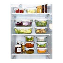 [++]  Pour arrêter de stocker l'alimentaire dans du plastique. Acheter la série FÖRTROLIG Récipient alimentaire, verre transparent - - IKEA