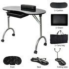 Portable Manicure Table with Arm Rest& Drawer Salon Spa Nail Equipment Black #Na...