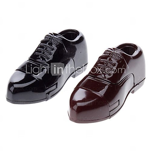 Mini Man's Leather Shoe Sytle Windproof Gas Lighter (Random Color) - USD $2.99