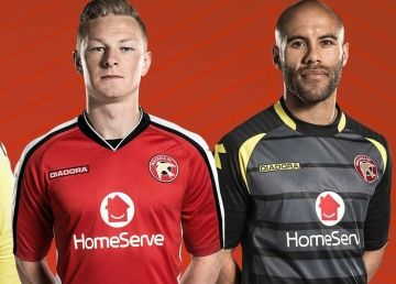 Walsall FC 2014/15 Diadora Home and Away Kits
