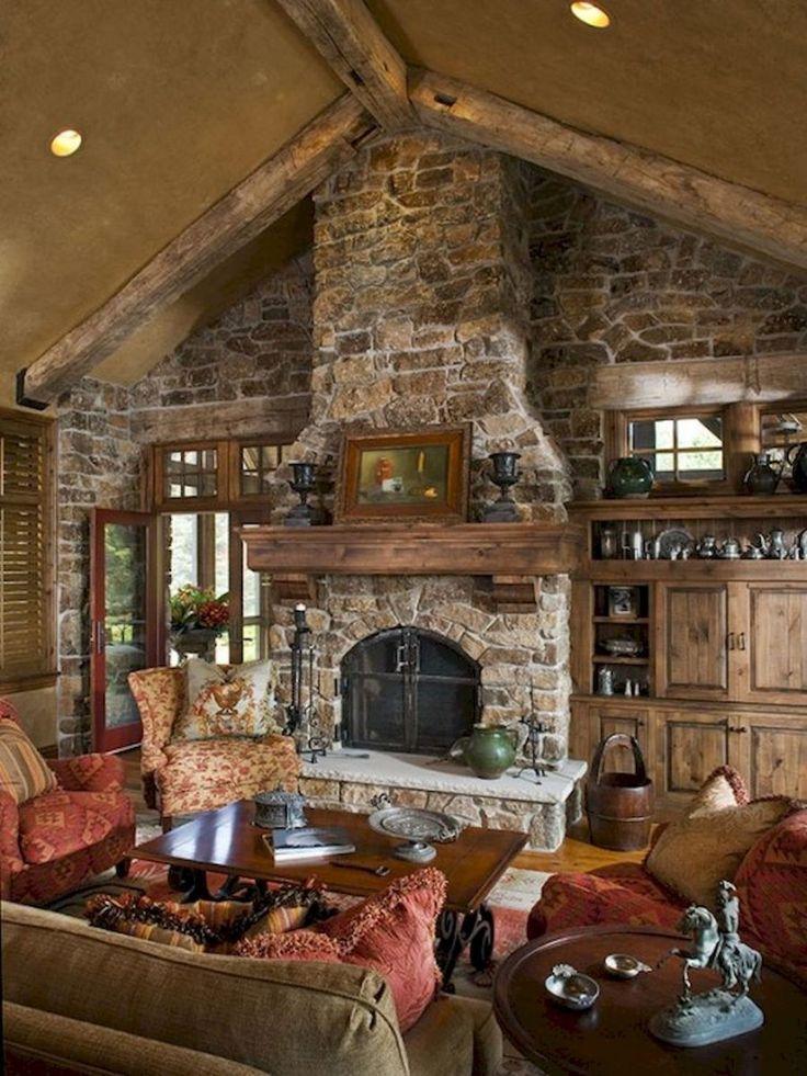 Rustic fireplace decor ideas (35)