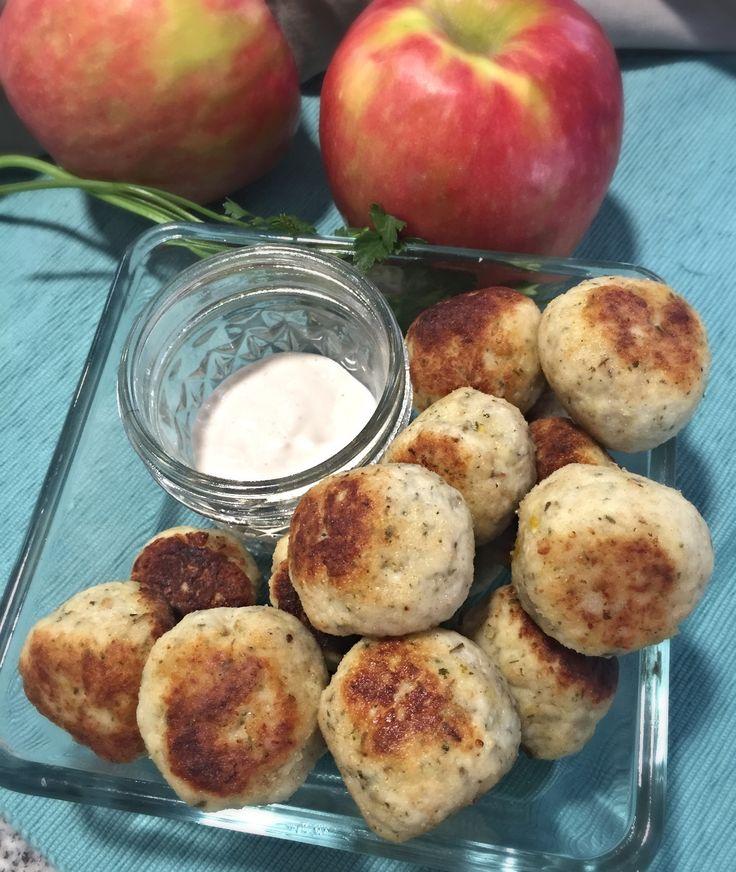 Bolitas de Pollo y Manzana, deliciosas y saludable receta! www.lavidaesdulce.net