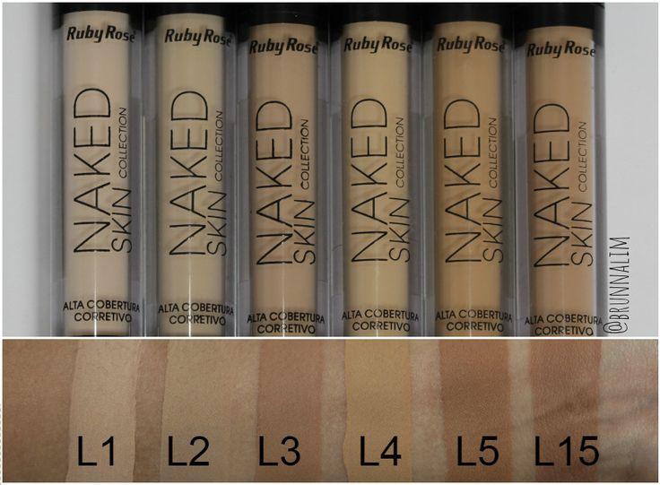 resenha-todas-as-cores-corretivos-da-ruby-rose-naked-skin-l1-l2-l3-l4-l5-l15-swatchs