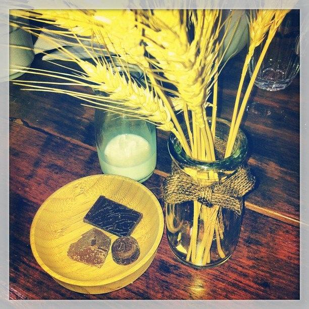 The milk chocolate course....at Monty's Chocolates, Brisbane.