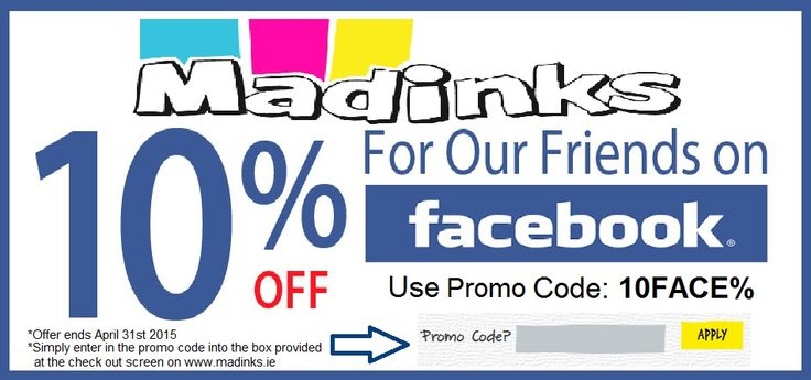 Check out this great offer for 10% off your next Printer Ink order at https://www.madinks.ie