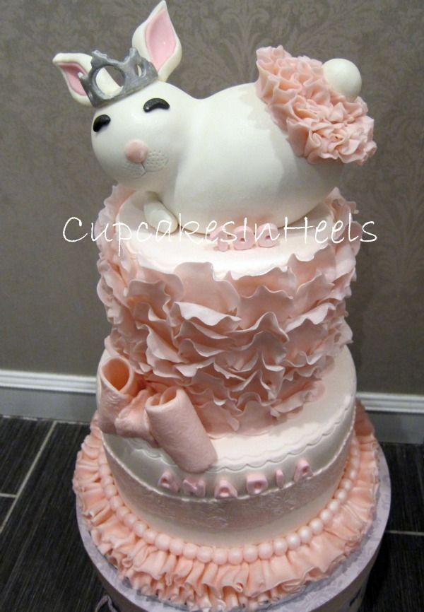 Pink Girly Princess Bunny Cake Pink Girly Cake With