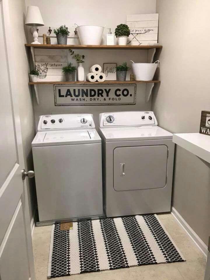 Small Laundry Room Remodel Smalllaundryroom Renovation Laundry In Bathroom Laundry Closet Makeover Laundry Room Shelves