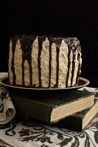 Chocolate Caramel & White Cake with Caramel Buttercream and Chocolate Ganache