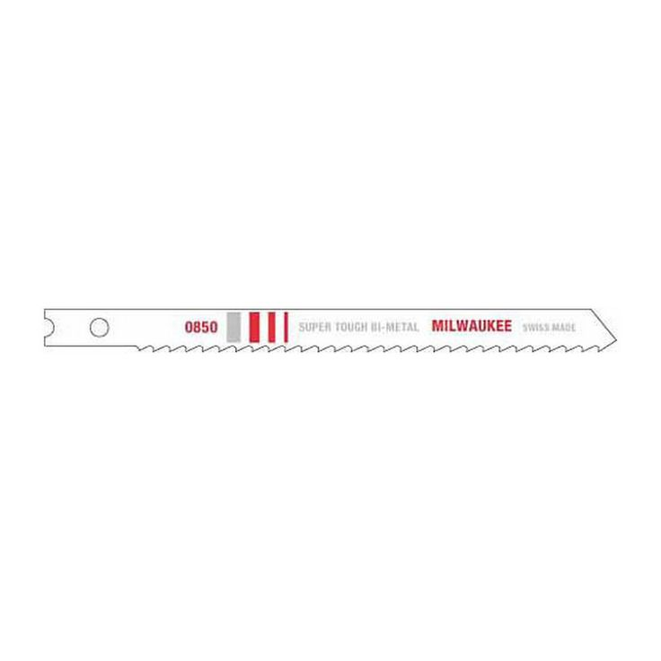 "48-42-0850 Milwaukee Jig Saw Blade Bi-Met 4"" 8Tpi U-Shank 5 Pcs"