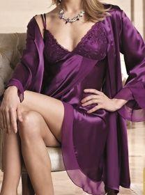 Nurteks İç Giyim Saten Kimono Set 5396