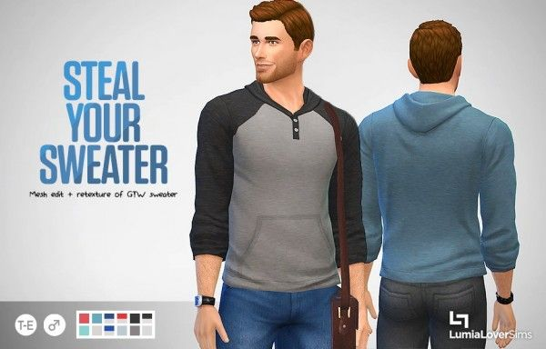 Lumia Lover Sims: Henley-styled sweater • Sims 4 Downloads