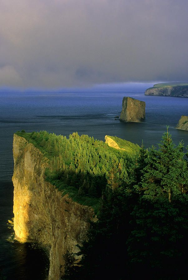 ✯ Evening Light and Fog - Perce, Gaspe, Quebec