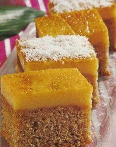 Receita de Bolo-Pudim - Estasfatias de bolo-pudim, são deliciosas…