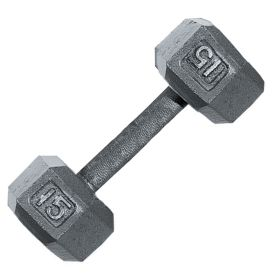 Fitness Gear 15 lb Cast Hex Dumbbell - Dick's Sporting Goods