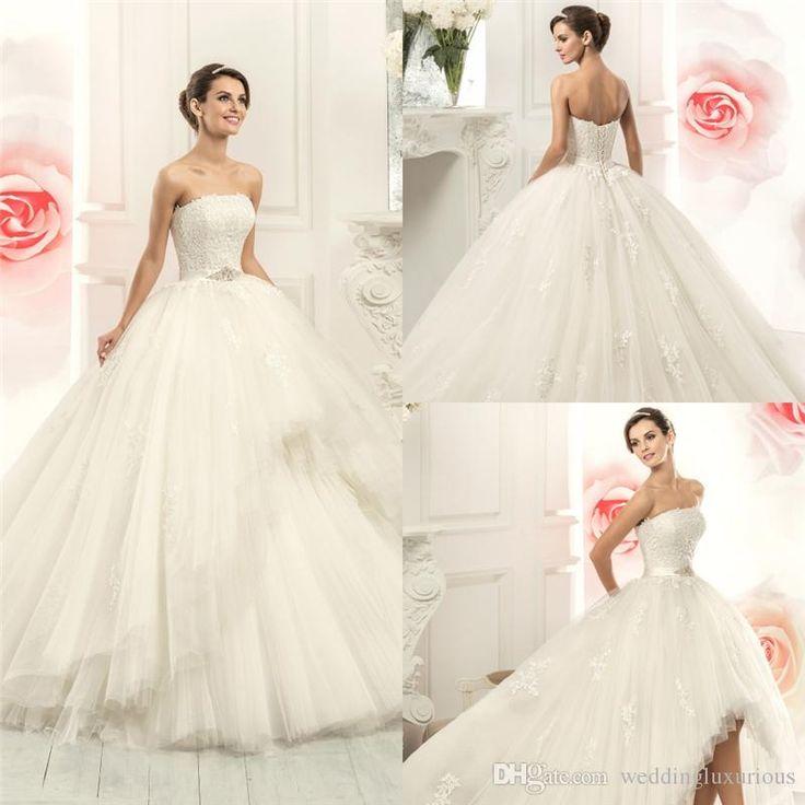 Новое Прибытие Съемные Свадебные Платья Без Бретелек 2 015 Узелок Платье Де Noiva Высокого Качества