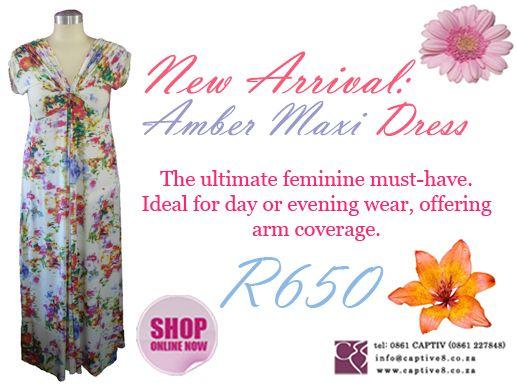 Amber Floral Maxi - www.captive8.co.za