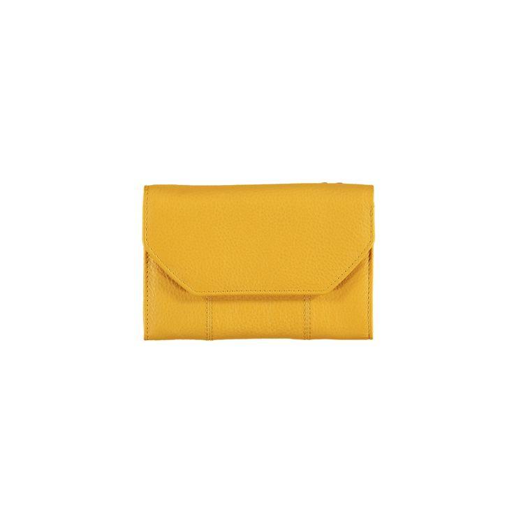 Helemaal fan!  Gele lederen portefeuille - Veritas