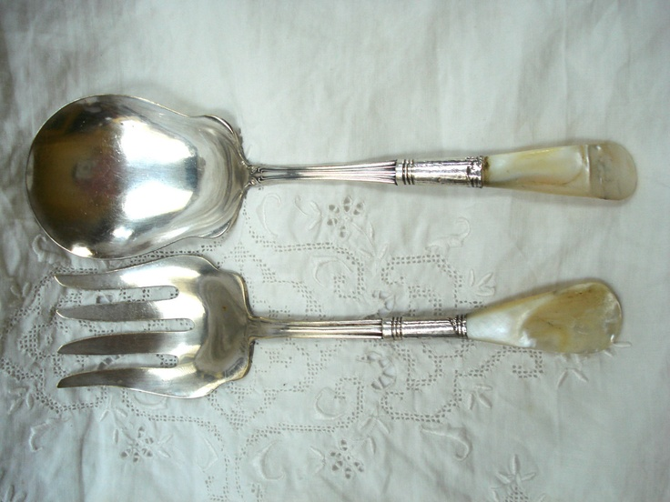201 best images about pearl handled flatware on pinterest - Pearl handled flatware ...