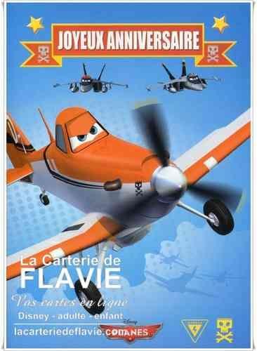 La Carterie de Flavie: Carte anniversaire Disney Planes avec La Carterie de Flavie, livraison gratuite.